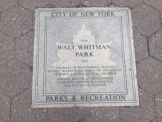 Walt Whitman Park plaque.jpg